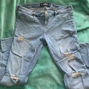 Hollister Low Rise Light Wash Jean Legging Size 13